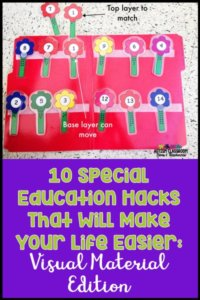10 Special Education Classroom Hacks That Will Make Your Life Easier: Visual Material Edition