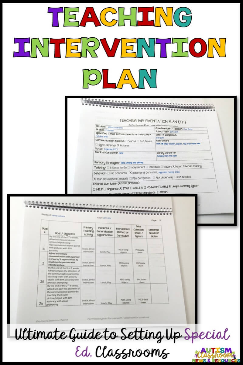 The Teaching Intervention Plan (TIP) can help special education teachers plan out the schedule, instruction and data collection. Find out more about it in this round up post with examples.