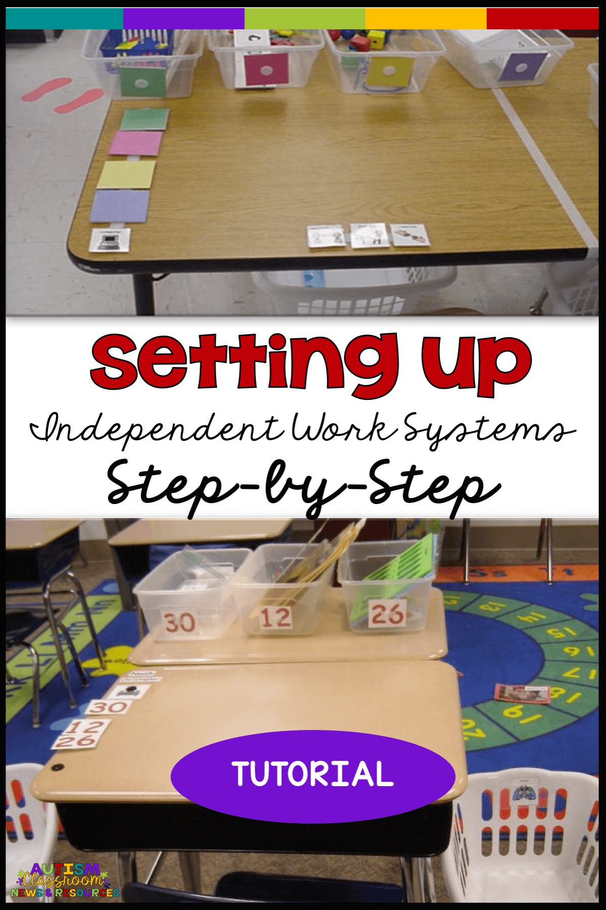 Independent work systems aren't difficult, but making sure they get set up and used correctly is essential to getting results.  This step-by-step tutorial will take special educators through the process of setting the system up to help your students become more independent.