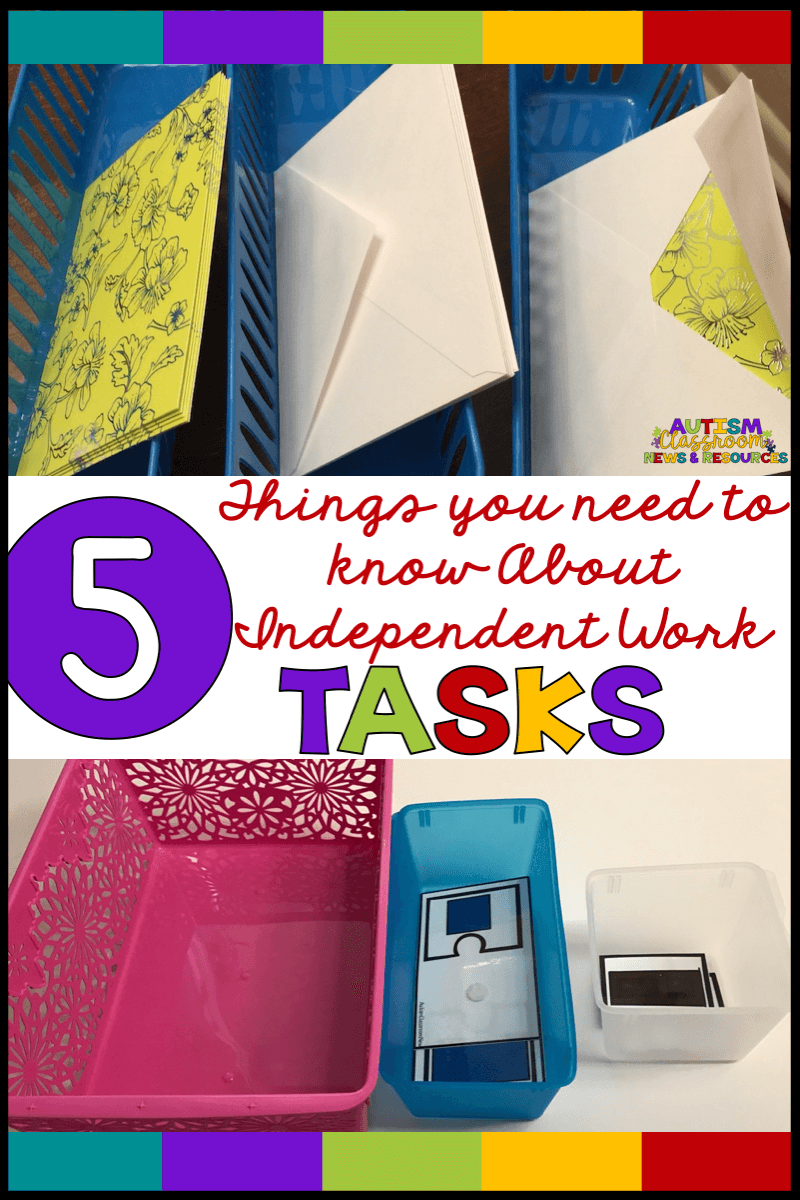 Not all independent work tasks are created equal.  Check out these 5 things each task in your work system should have to be successful.