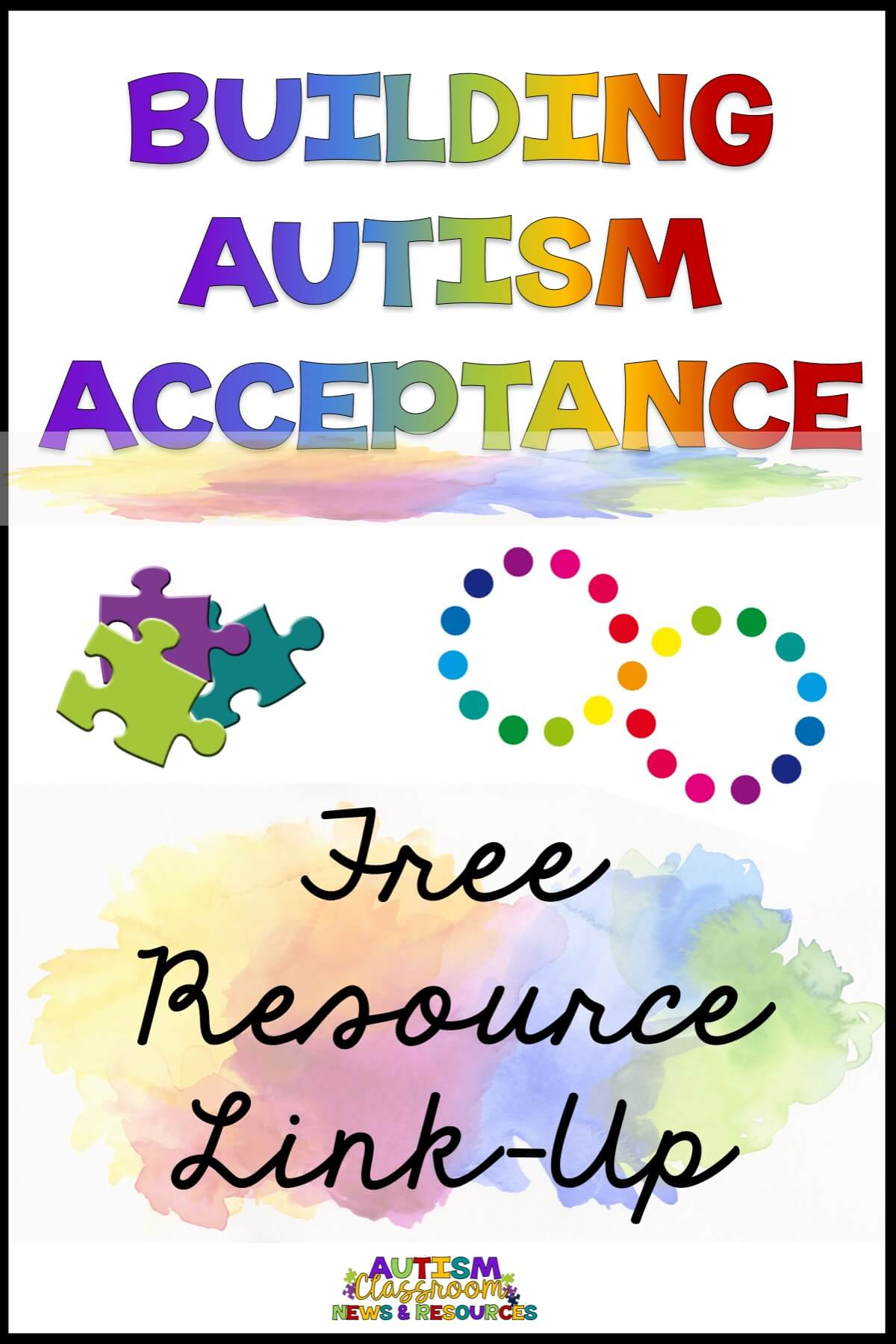 April is Autism Acceptance Month. It's a time to increase awareness and build communities that are more accepting of the diversity those with autism bring to our communities. This linkup of free resources are designed help educators and families build acceptance in their classrooms and communities. #autismacceptance #AutismAcceptanceWithTpT #freeautismresources #free #autism