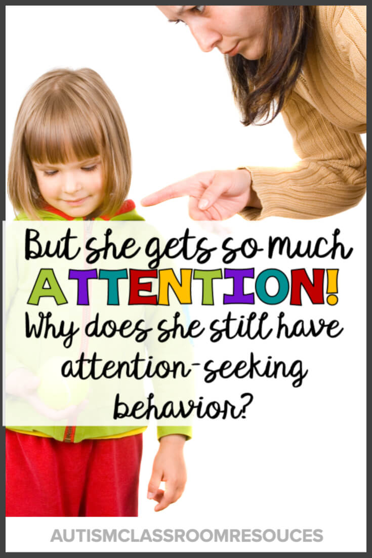 Meet Kendra and Matt. Two students with attention-seeking challenging behavior that just doesn't seem to go away. It might be because you aren't in control of all the variables. Or it might be because that reaction they get from peers is so much more reinforcing. Check out this post for ideas of how to manage those attention-seeking behaviors when you are already trying to ignore them. #pbis #behaviormanagement #behaviorsupport #attention-seeking #behaviorproblems