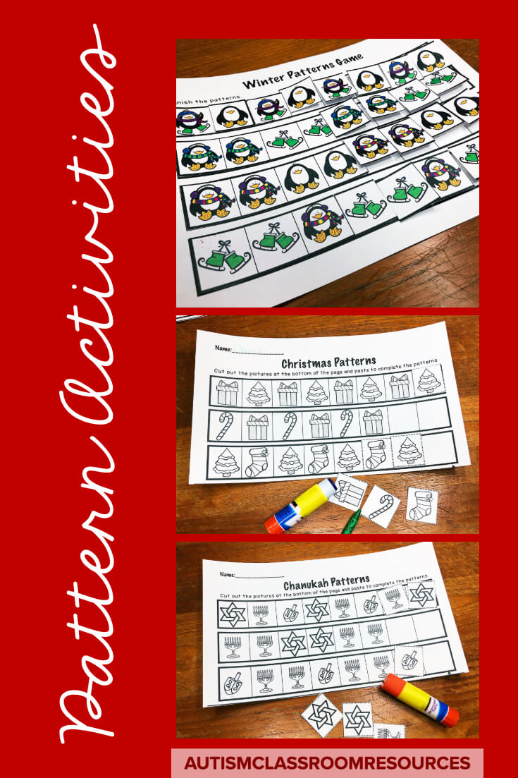 Everything is better with the holidays...even pattern activities. Find out more about these in this post.