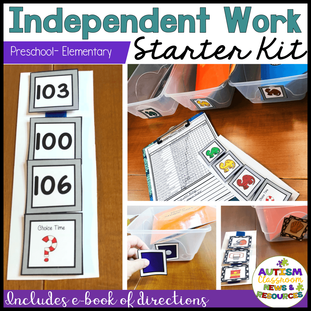 Everything you need to get started in your special ed classroom with independent work.