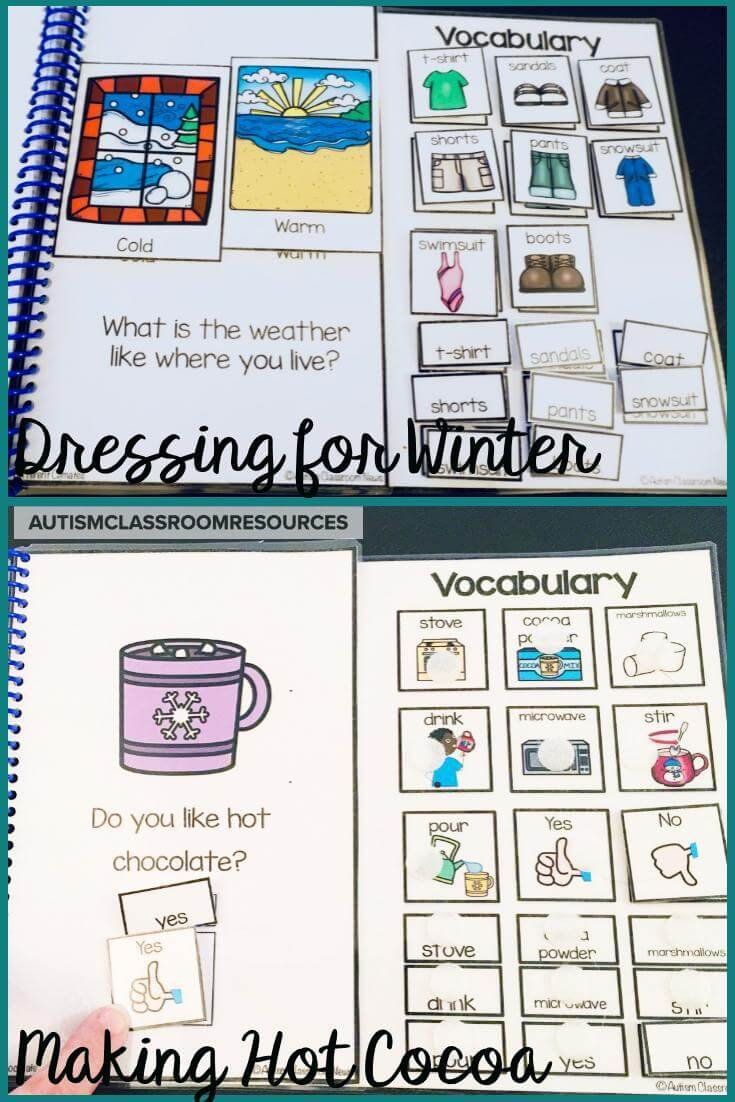 These books are great for building vocabulary, but you can also use these winter resources to work on sequencing skills.  The students can read the book and then put the pictures in order of the story.  You could then have them tell you the story from the pictures.