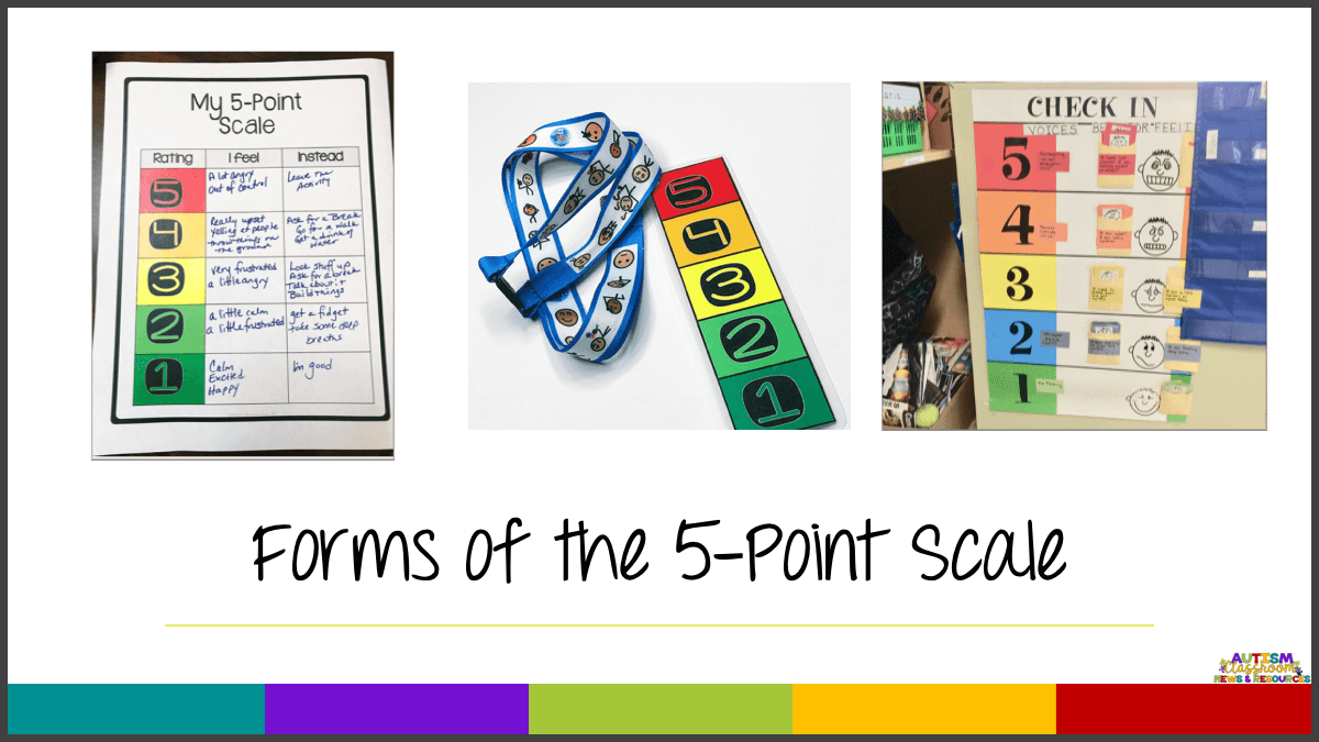 The Incredible 5-point scale is an amazing tool for helping students with autism and other disabilities to recognize and address their feelings of anxiety. It makes it visual and concrete and it's easier for them to communicate how they feel using the numbers. Find out how it can help your student with anxiety in this post. #autism #anxiety
