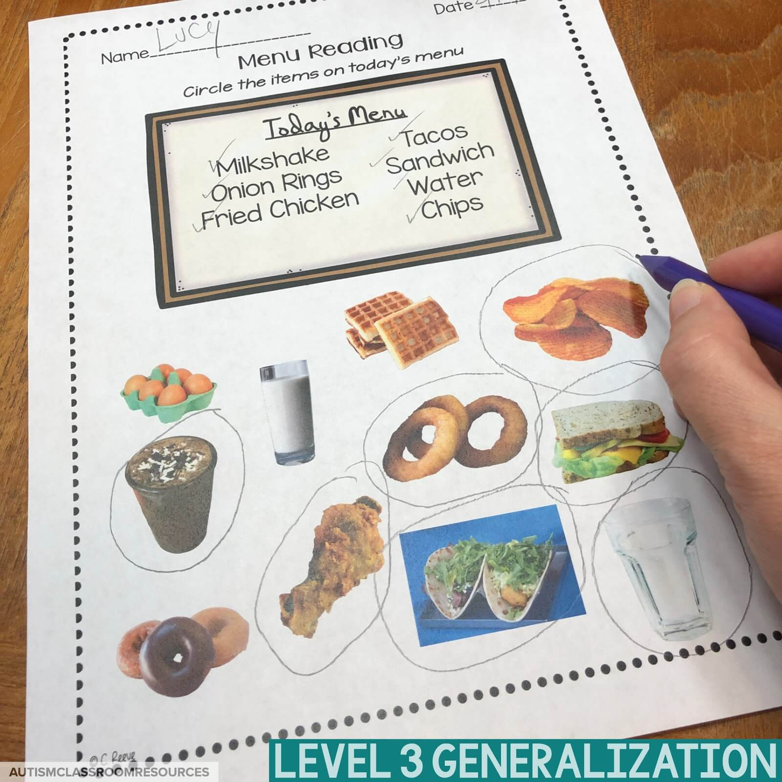 Level 3 of the functional sight words reading worksheets are designed to start generalizing students' reading comprehension skills to real-life settings. They are perfect for life skills classes and can save you time in both prep and data collection. Find out how in this post.