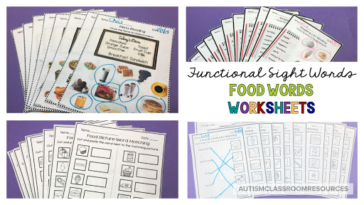 Finding engaging, practical ways for working on functional reading comprehension with sight words is tough for life skills teachers. Leveled worksheets to the rescue. They can save you time in prep as well as in data collection. And they scaffold your instruction and allow for easy differentiation. Check out what they offer in this post.