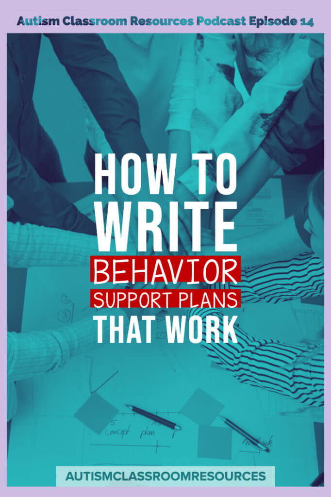 How to write behavior support plans that work